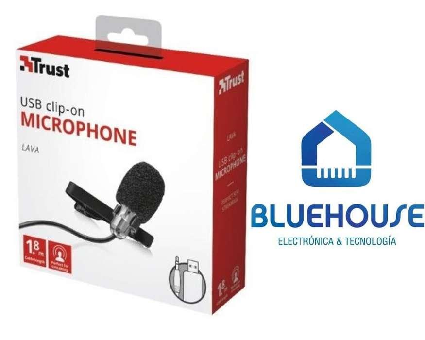 Microfono para celulares microfono para pc Corbatero Trust Lava Clip 3,5mm Usb