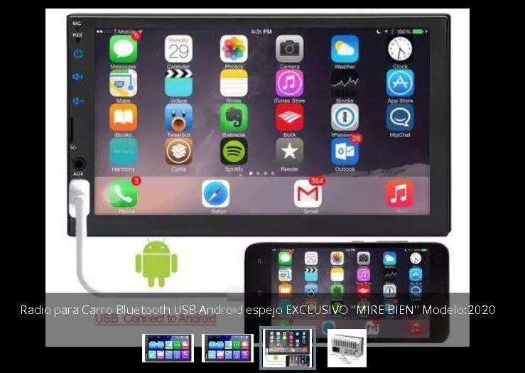 Radio Carro android Mirrorlink Bluetooth usb Táctil 7'' 199.000 y con cámara de 8 leds 245.000