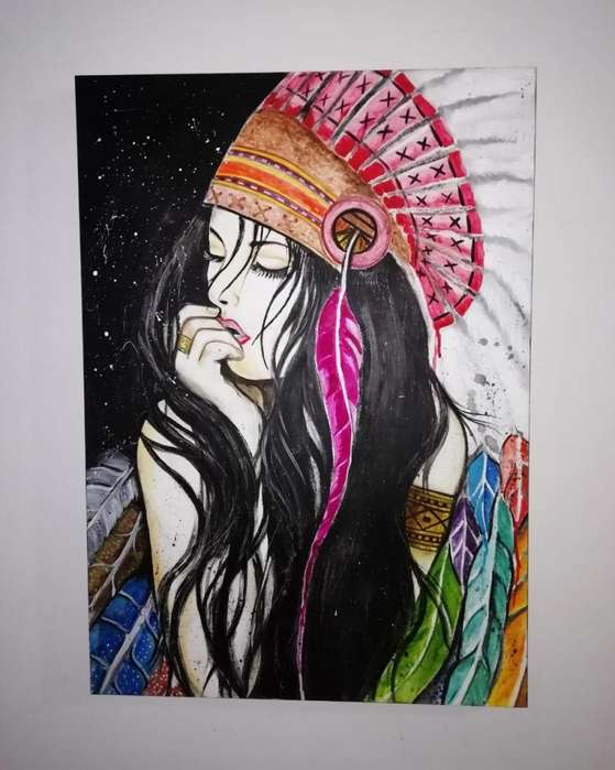 VENDO HERMOSA <strong>pintura</strong> DE INDIA.