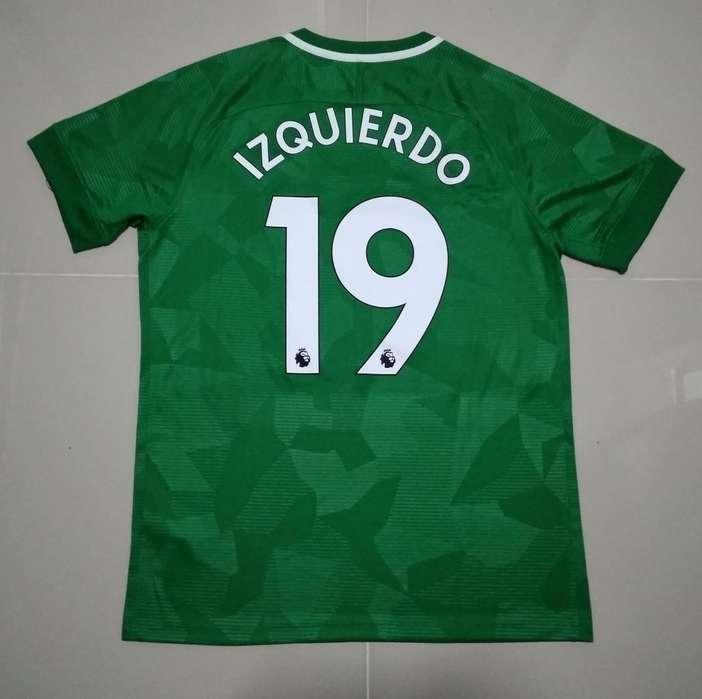 camiseta Jose Izquierdo, Brighton Hove Albion 2018/19, talla L