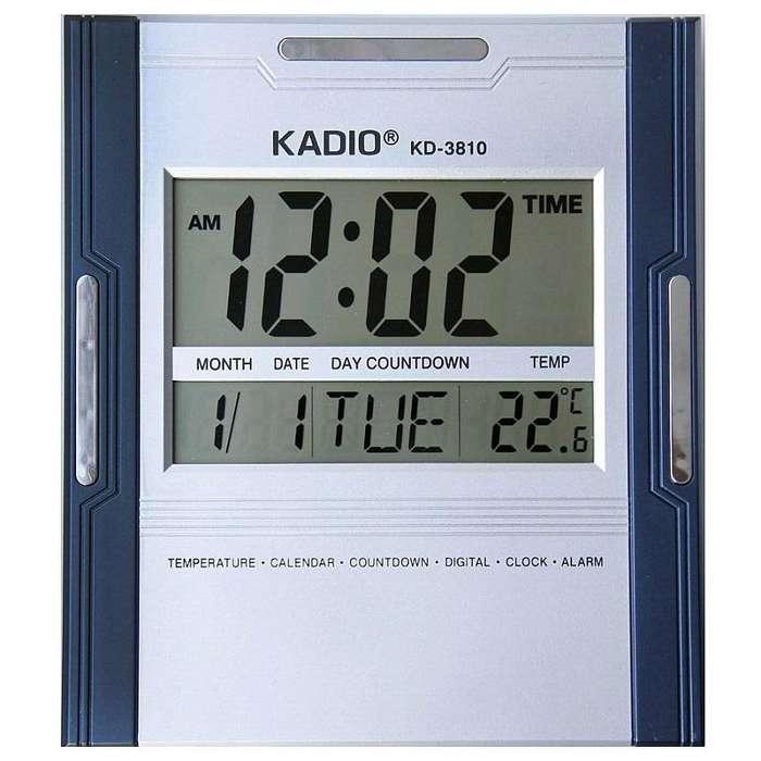 Reloj Pared Digital Kadio Termometro Fecha Alarma Calendario