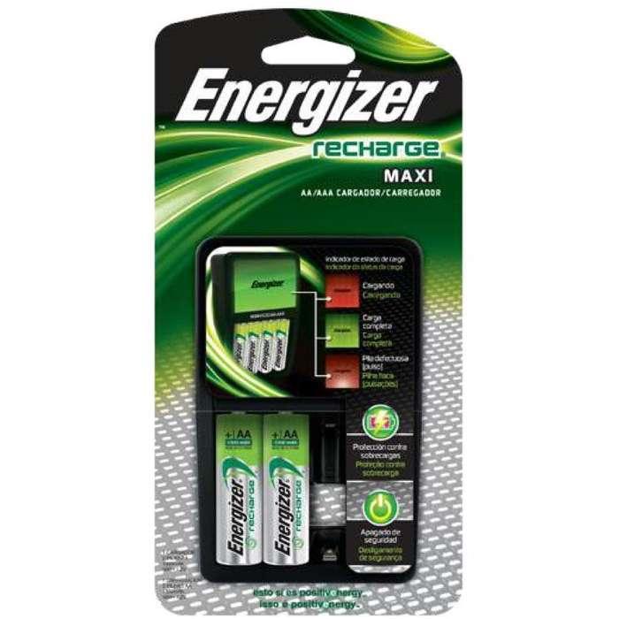 Cargador De Baterias Aa/aaa Energizer 4 Puestos 2 Baterias