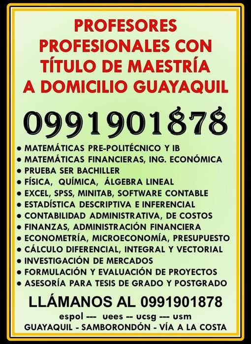 0991901878 CLASES A DOMICILIO MATEMÁTICAS FINANCIERAS, ESTADÍSTICA, FINANZAS, INGENIERÍA ECONÓMICA, ECONOMÍA