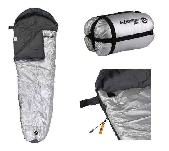 Sleeping Momia Saco Dormir Gris Klimber Plus Camping 5ºa5ºc