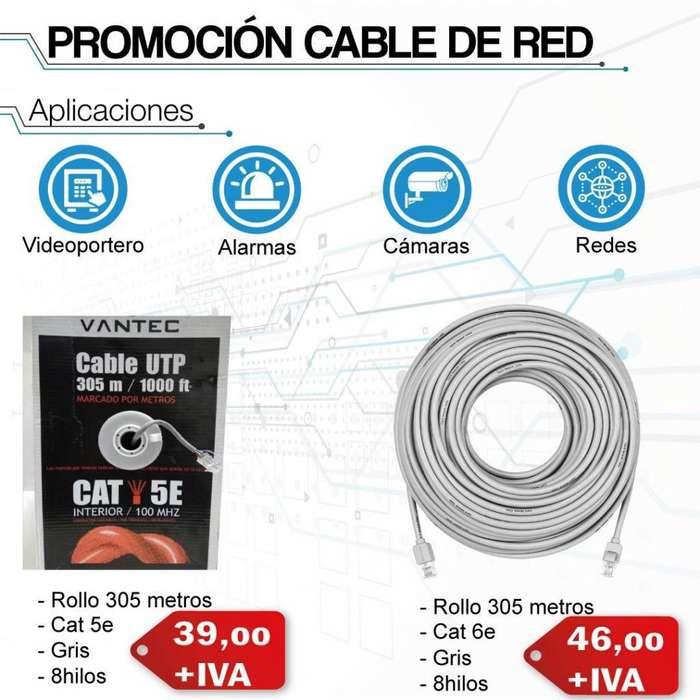 cable de red interior 50% de cobre/cable utp