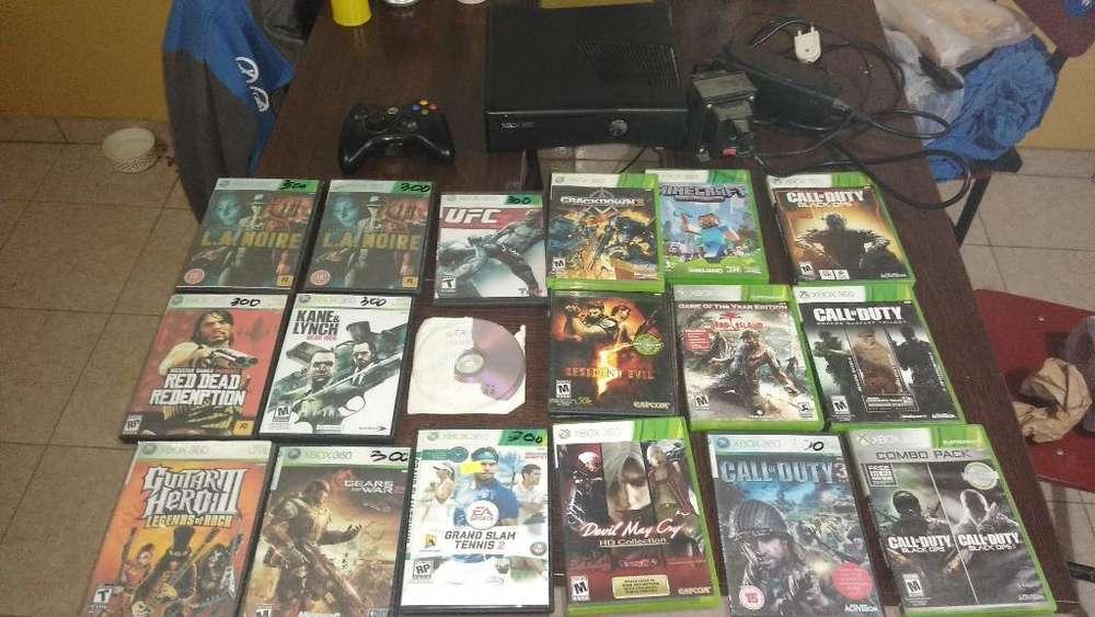 Vendo Xbox360 con 18 Juegos Y Un Mando