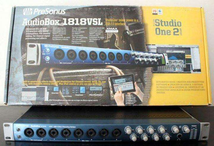 Placa de audio Presonus Audiobox 1818vsl! Graba 8 canales simultáneos!