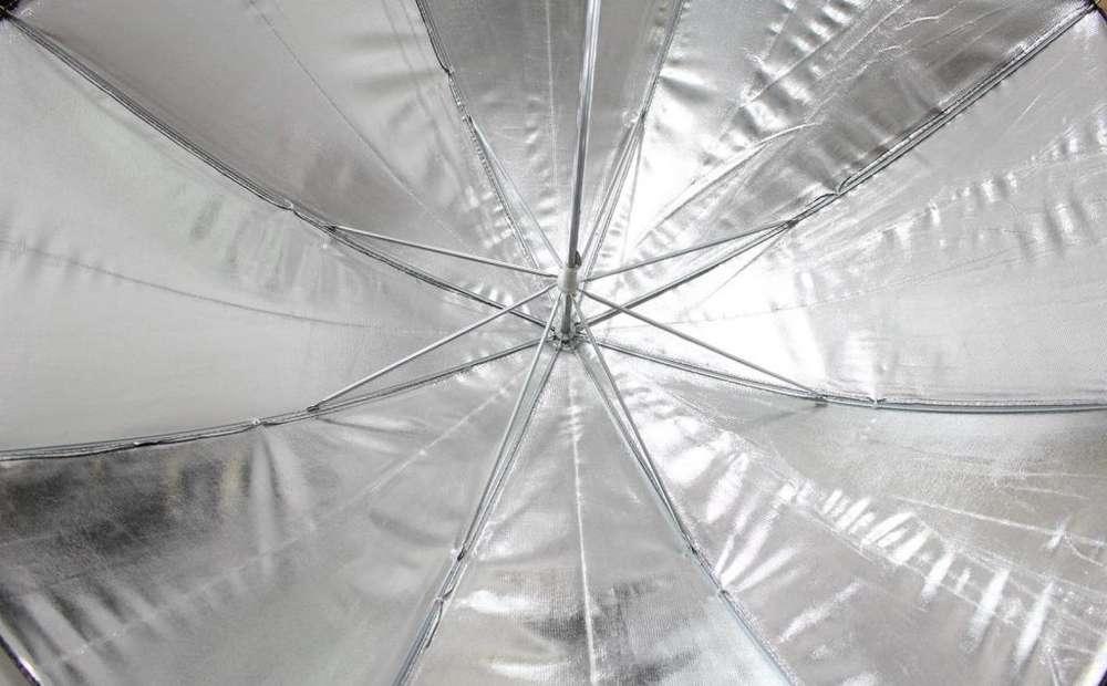 Paraguas plateados para fotografia