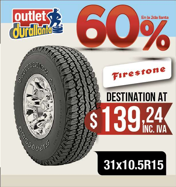 <strong>llanta</strong>S 31x10.5R15 FIRESTONE DESTINATION AT