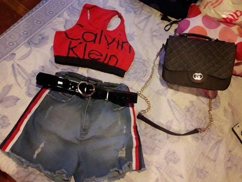 Combo <strong>cartera</strong> Mas Reme Shorts Y Cinto :)