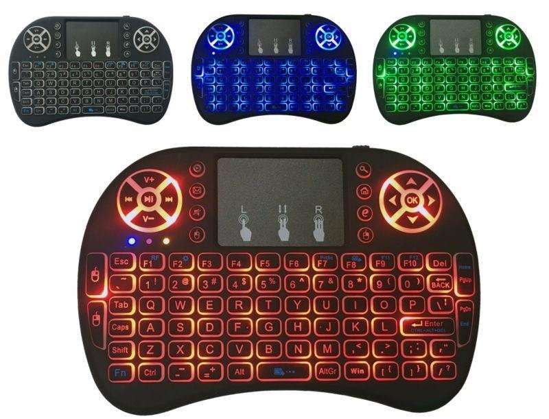 Mini Teclado LED Android Inambrico Touchpad Smart tv Box