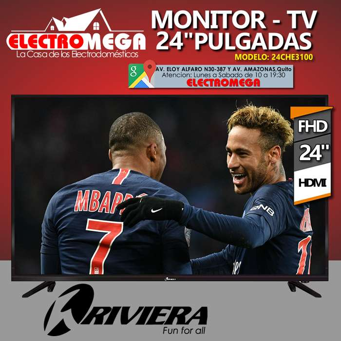 Tv <strong>monitor</strong> Riviera 24 Pulgadas Full Hd Hdmi Vga Usb