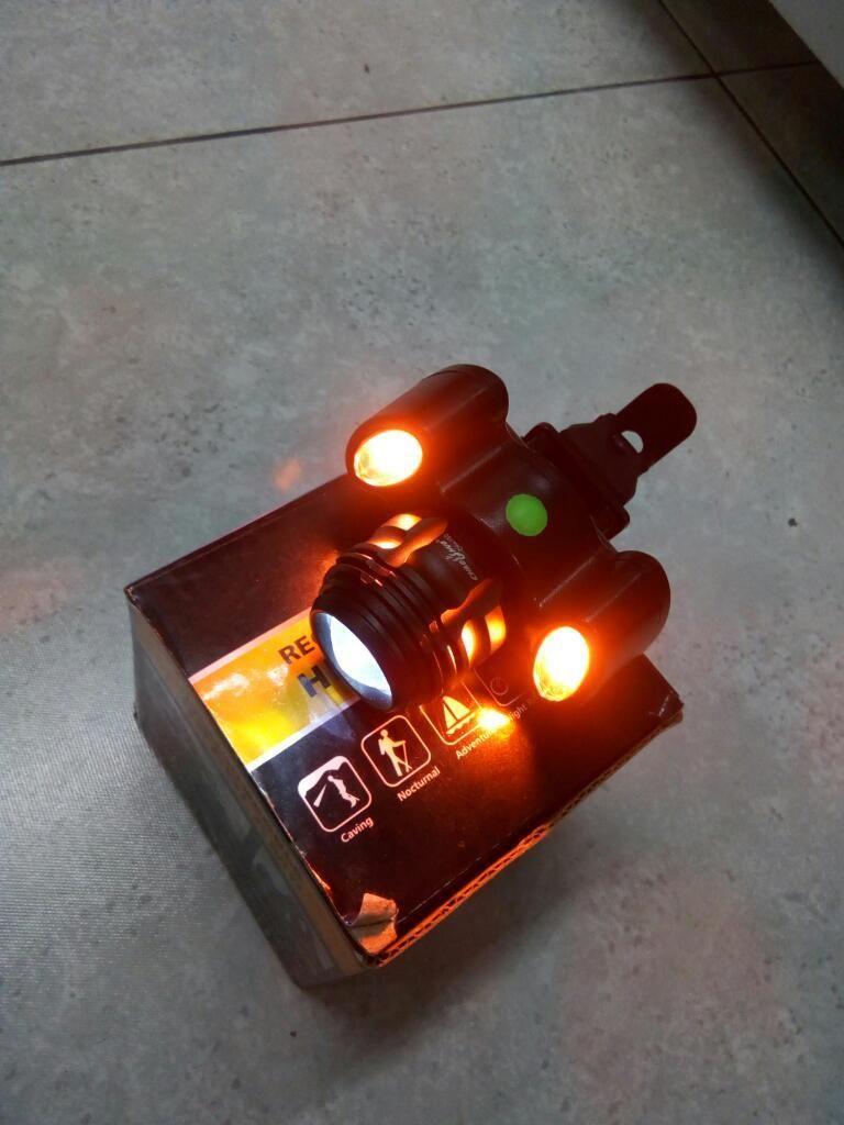 Linterna frontal para Bicicleta 5000 ilumines.