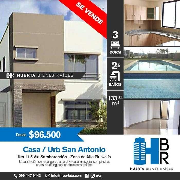 venta casa en Urb. #SanAntonio #VíaSamborondon 96.500