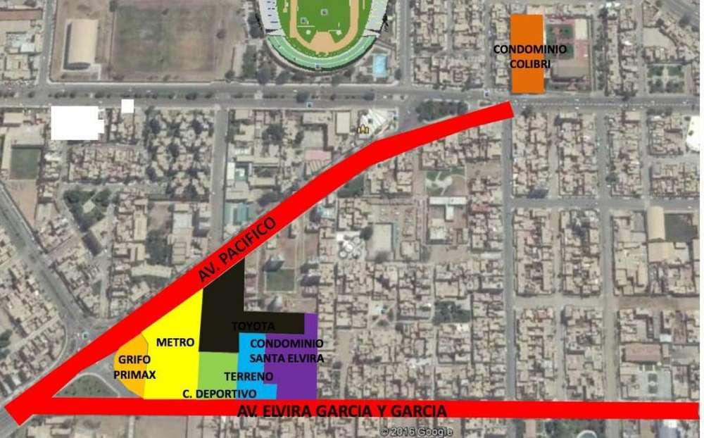 Vendo Terrenos. Chiclayo. Av Elvira García y García, Area 2,780 m² y Area 971 m²