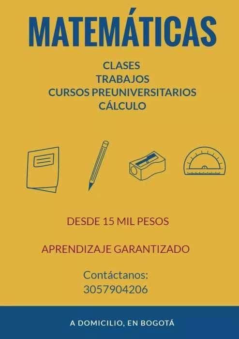 CLASES DE MATEMÁTICAS Y TRABAJOS