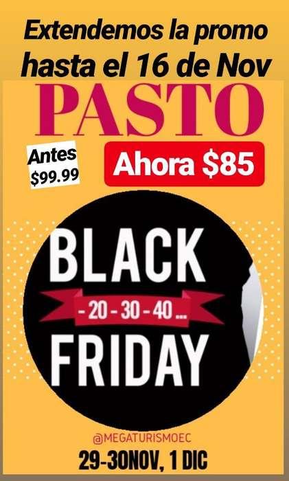 @megaturismoec promo Pasto! Black Friday