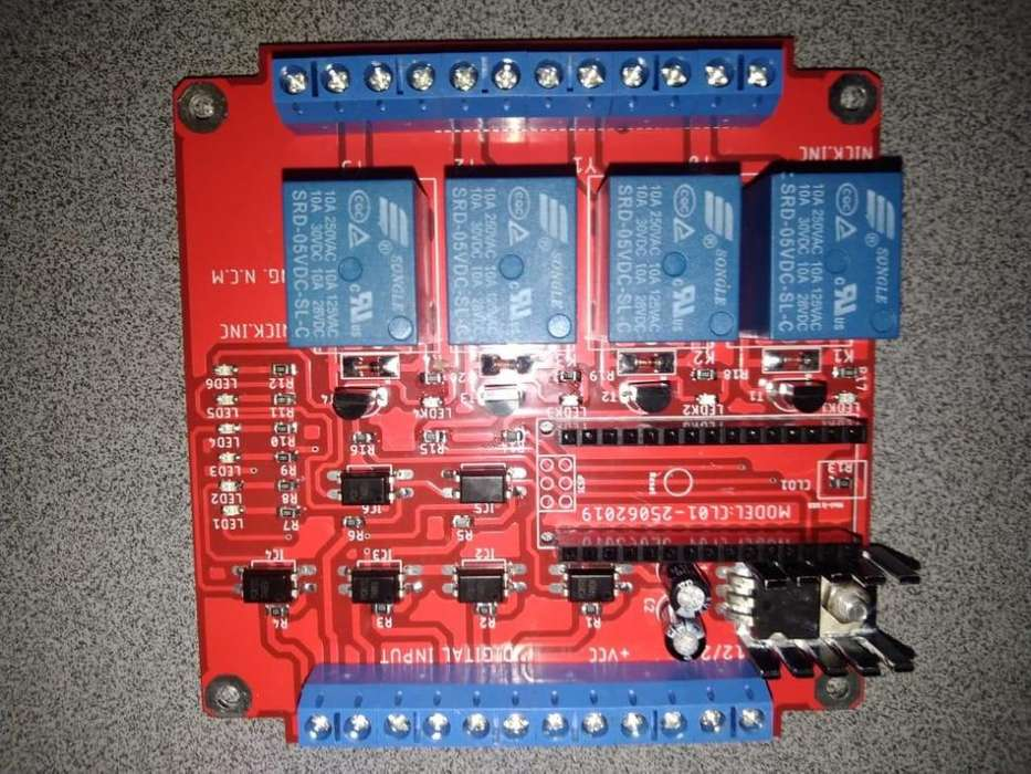 Arduino Placa Plc 6in/4out Rele