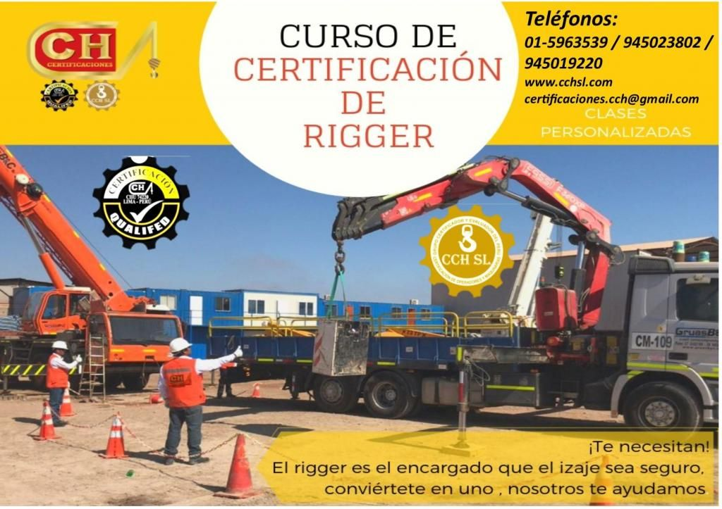 RIGGER, CAPACITACION, CERTIFICACION Y HOMOLOGACION CURSO DE FORMACION