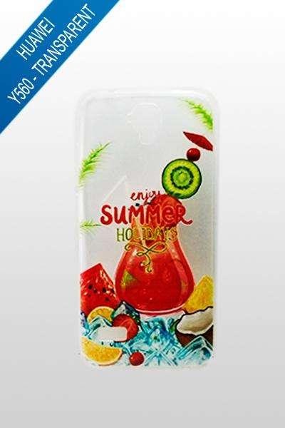 Huawei Y560 - Estuche Transparente Girasol / Summer