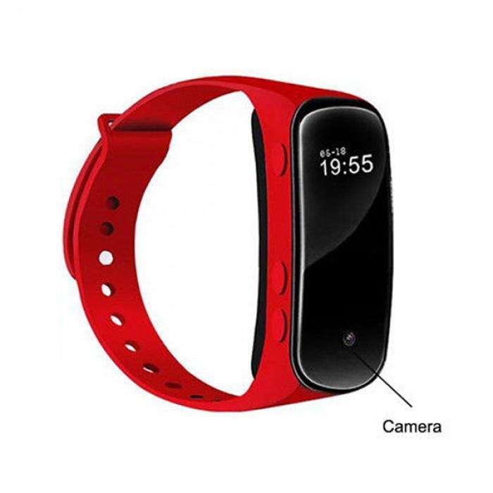 H20 Cámara Espía Reloj Brazalete Smart Fit Band Watch <strong>bluetooth</strong> 1080p