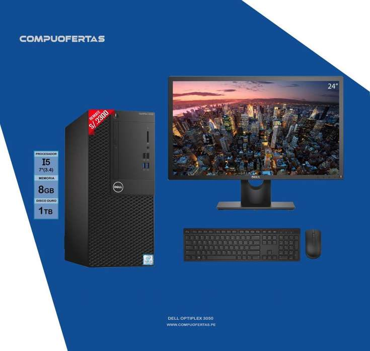 COMPUTADORA DELL OPTIPLEX 3050 I5 3.4GHZ 7MA.GEN.