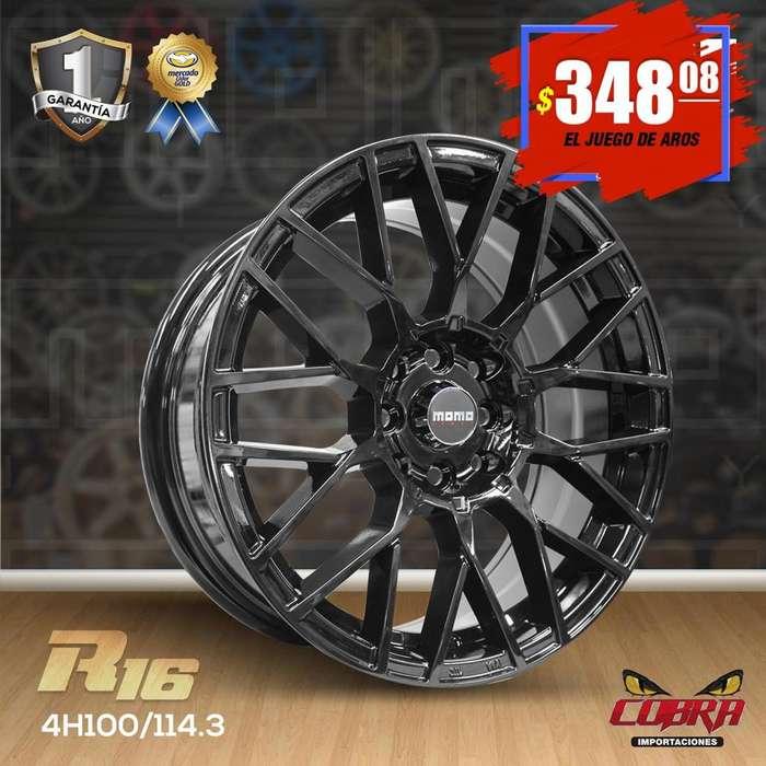 Aro Rin 16 JUEGO* Hyundai Accent Kia Rio Chevrolet Aveo Chevrolet