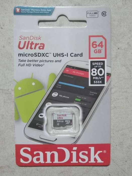 Micro SD de 64 GB SanDisk Ultra