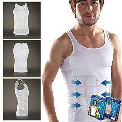 Camiseta Reductora Faja De Alta Compresión Slim N Lift COLOR BLANCO (NUEVO)/ SOMOS TIENDA MASTER TEC 1.0