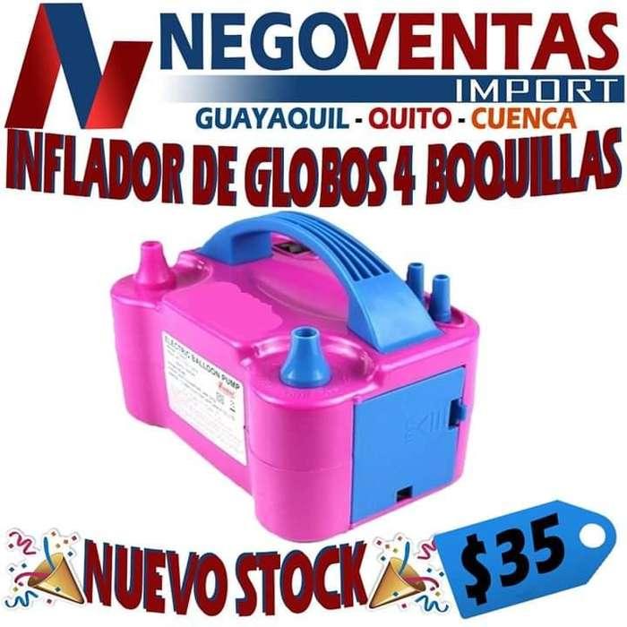 INFLADOR ELÉCTRICO GLOBOS 4 BOQUILLAS OFERTA 35,00