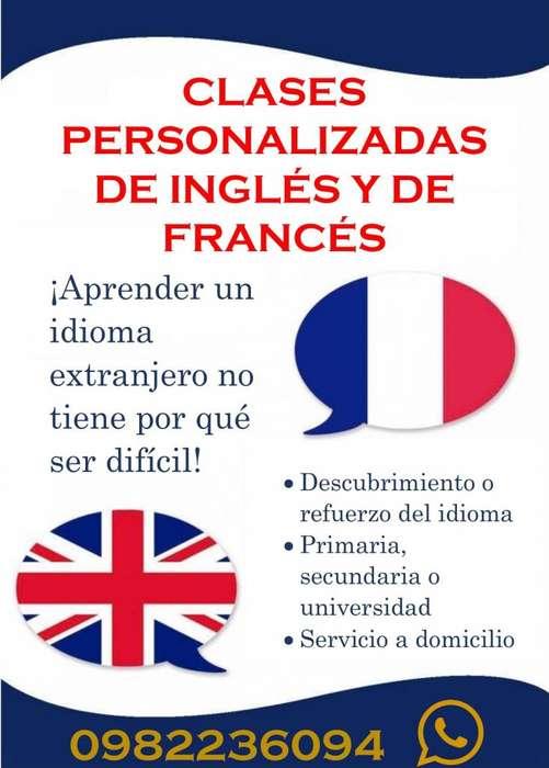 CLASES PERSONALIZADAS DE INGLÉS Y FRANCÉS A DOMICILIO