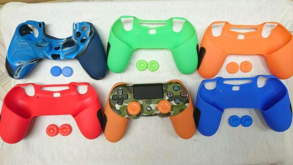 Protectores para mando y joysticks de PS4