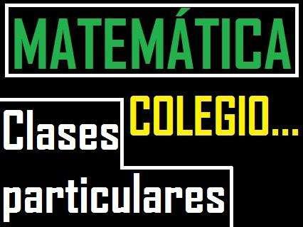 Profesor de Matemática, colegio ...matematica