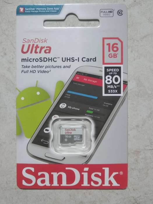 Micro SD de 16 GB SanDisk Ultra