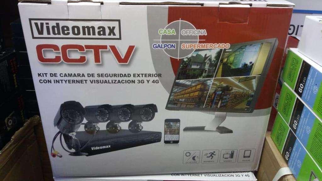 Kit 4 Camaras Seguridad Dvr Cctv Pal Int/ext Visión Nocturna