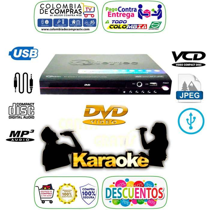 Dvd Karaóke Usb Mp3 Mp4 Lente Samsung Pantalla Led, Nuevos, Originales, Garantizados.