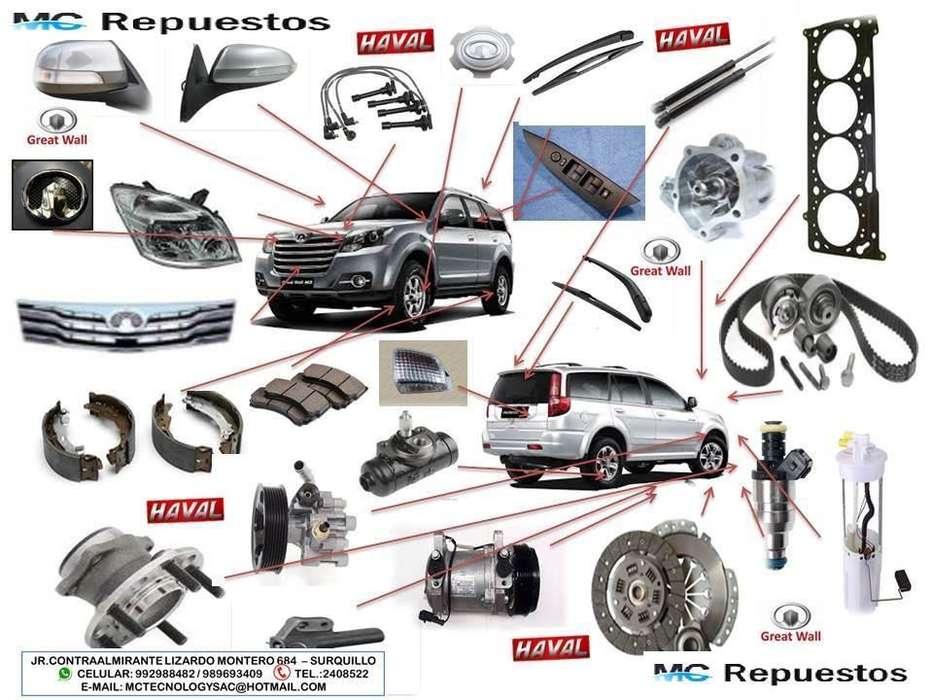 REPUESTOS Y AUTOPARTES GREAT WALL, HAVAL, Y MARCAS CHINAS