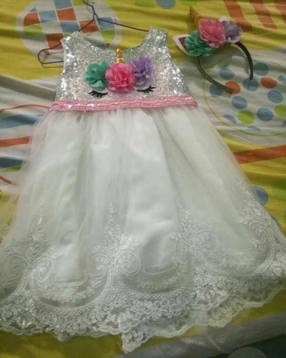 Unicornio Vestido Y Decoración Fiesta