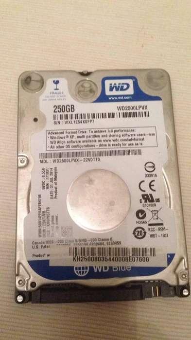 Disco Wd 250G 2.5 para Notebook