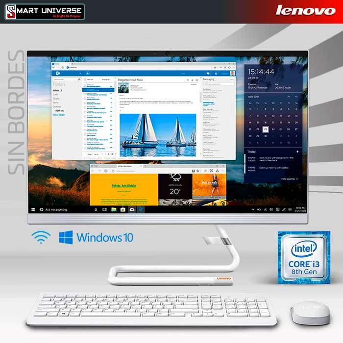 Computador All in One Lenovo A340 Core I3 8va 22 Pulg 4gb Ram 1tb Win10 SIN BORDES
