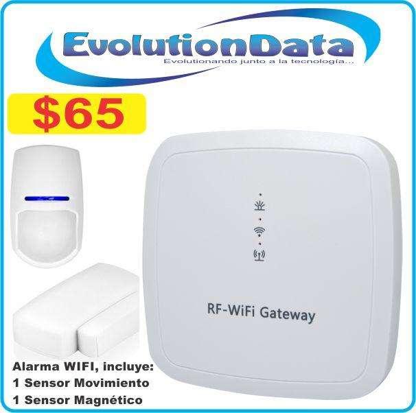 Kit Sistema Alarma Wifi Inalambrico Control Desde Celular Android Iphone Facil Instalacion