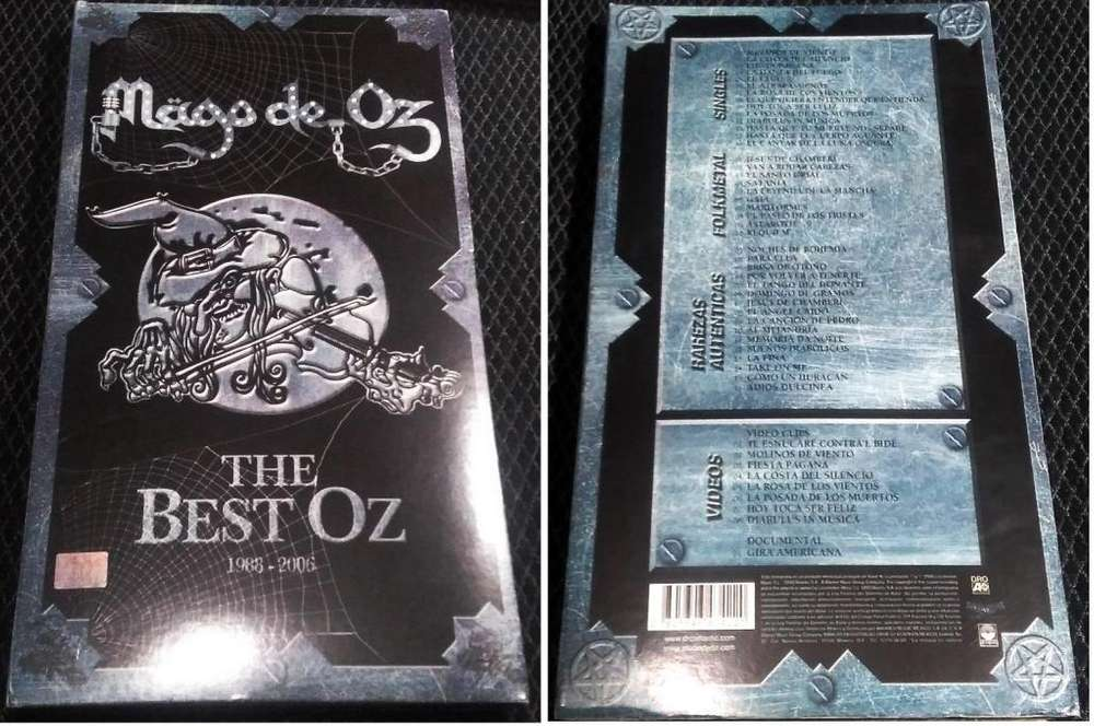 Recopilatorio del Mago de OZ THE BEST OZ 3 CDs 1DVD Libro de 42 Paginas The Best Oz 1988 - 2006 Made in Mexico