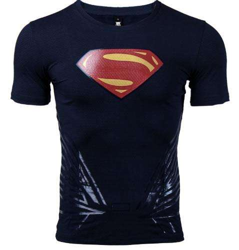 Camisa lycra superman Man of steel