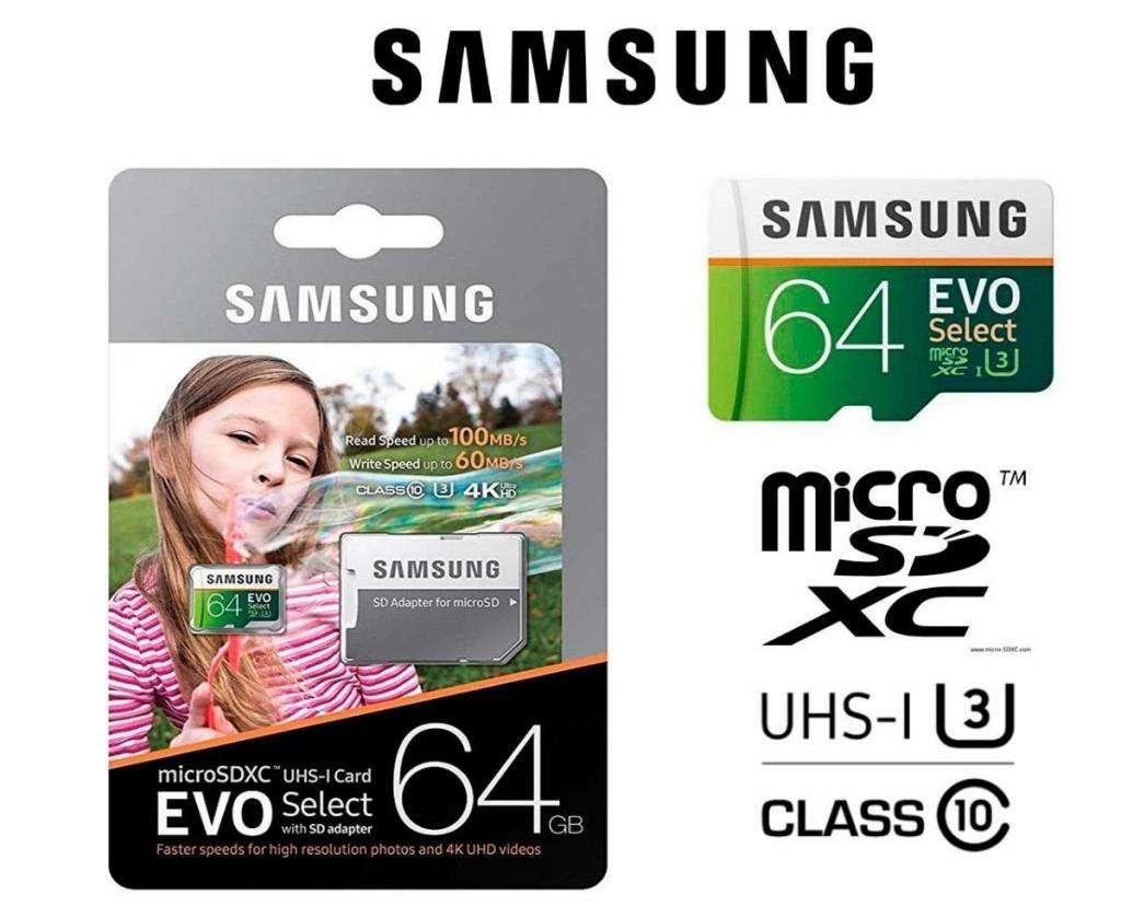 Micro SD samsung Evo 64 gb nueva en blister cerrado