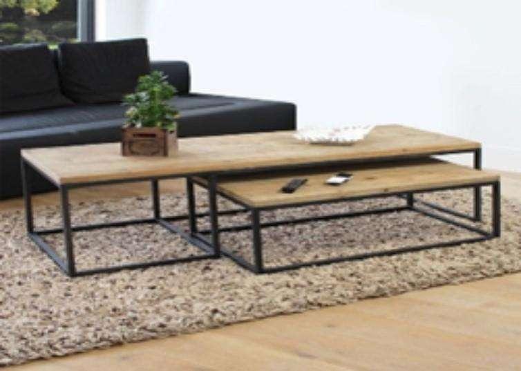 Mesa madera maciza con caño