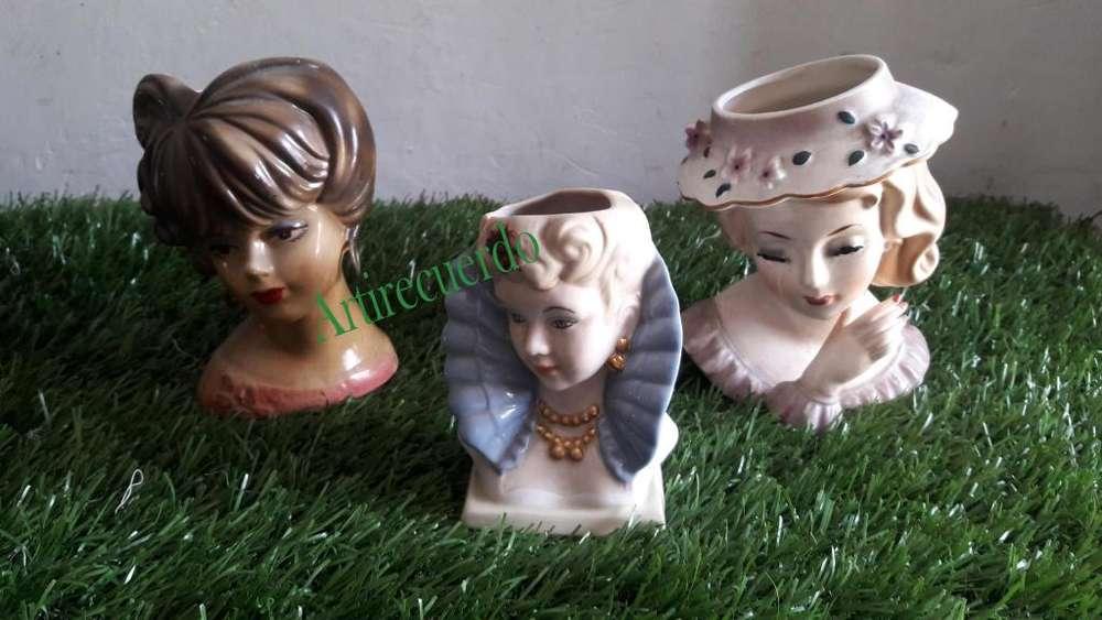 """Los floreros en porcelana """"cabeza de dama"""" o Meninas"""