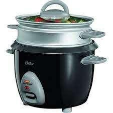 Oster 6cup Rice Cooker Con Bandeja De Vapor Black Ckstrcms65
