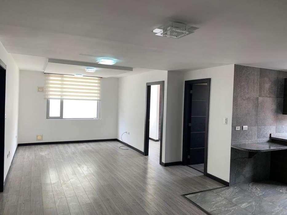 ELOY ALFARO Y GASPAR DE VILLAROEL, departamento de 72m2, 2 habitaciones, 2 baños, 1 parqueadero