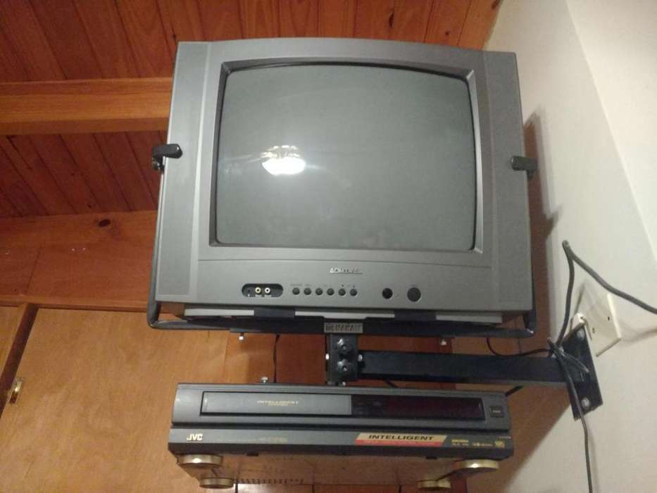 TV 20 pulgadas y video cassettera Soporte