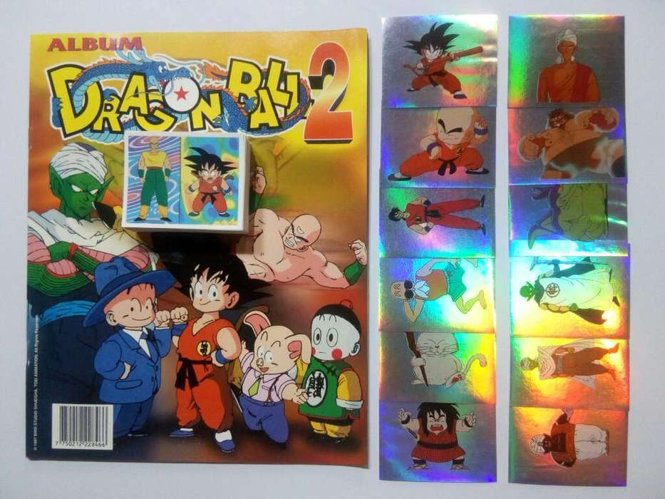Álbum Dragon Ball 2 Set a Pegar Completo/Navarrete NO taps Pani Cab hit